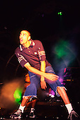 The Prodigy - dancer Leeroy Thornhill performing live at the G-Mex Arena Manchester UK - 05 Dec 1997.  Photo by: Tony Woolliscroft / IconicPix