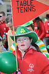 Special Olympian Megan McCormack who took part in the Drogheda St. Patrick's day parade. Photo: Colin Bell/pressphotos.ie