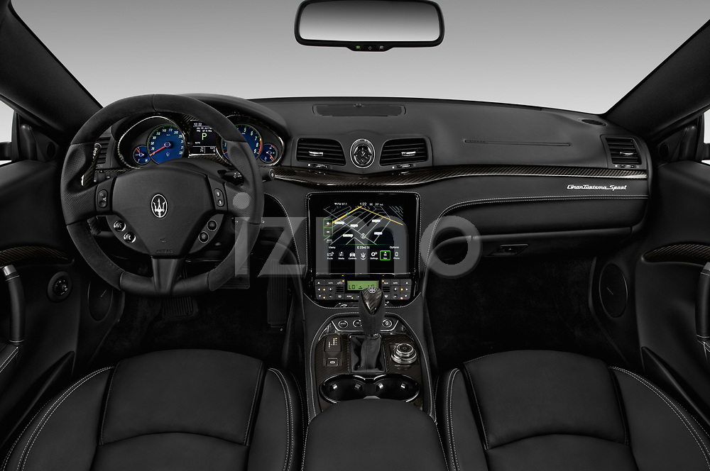 Stock photo of straight dashboard view of a 2018 Maserati GranTurismo Sport 2 Door Coupe
