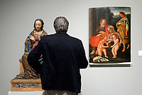 Artworks stolen during the earthquake of 2016, adoring Madonna by Saturnino Gatti, stolen in Castelluccio di Norcia and Madonna with St Giovannino, stolen from amatrice<br /> Rome May 3rd 2019. Quirinale Palace. Preview of the exhibition 'The art of rescuing art' , a collection of antique artworks, paintings, statues, jewelry and terracotta artefacts rescued from the command of Carabinieri for the protection of the cultural heritage in 50 years.  Many of these artworks were stolen on commission for private collections.<br /> Photo di Samantha Zucchi/Insidefoto
