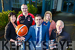 Launching the St Mary's Basketball club 48th Annual Christmas Blitz on Friday were L-r: Liz Galwey, Maurice Casey, Seamus O'Connor Garveys, Redin O'Loughlin and Donal O'Connor