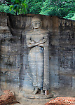 Standing Buddha figure, Gal Viharaya, UNESCO World Heritage Site, the ancient city of Polonnaruwa, Sri Lanka