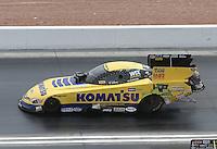Apr. 7, 2013; Las Vegas, NV, USA: NHRA funny car driver Tony Pedregon during the Summitracing.com Nationals at the Strip at Las Vegas Motor Speedway. Mandatory Credit: Mark J. Rebilas-