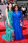 US actress Heather Tom arrives and poses with  actress Sherri Shepherd at the 35th Annual Daytime Emmy Awards held at the Kodak Theatre in Los Angeles on June 20, 2008.
