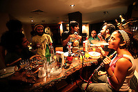 The only place where Iranaians can play their music to  audience is at private parties. Musicians what instruments or other objects they can find and make improvised jam sessions. Alcohol bought on the black market is common at these parties.