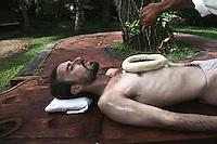 Ayurvedic treatment at an Ayurvedic resort at Alleppey, Kerala, India.