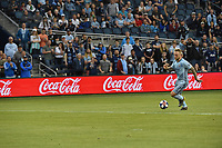 Kansas City, Kansas - Saturday, May 18, 2019: Sporting Kansas City and the Vancouver Whitecaps played to a 1-1 tie in a Major League Soccer (MLS) game at Children's Mercy Park.