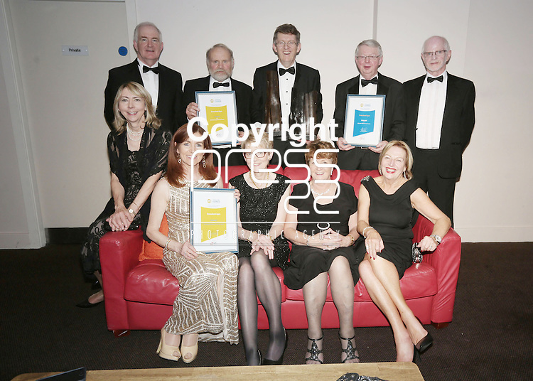 21/11/2014    Attending the Chamber Presidents Dinner and the Limerick Chamber Regional Business Awards 2014 in the Strand Hotel were Grassland Overall Company of the Year Award Winners. Back left Paul Marron Grassland, John Howard Grassland, Liam Woulfe, Donal Geoghegan, Grassland, John Hawe, Front row from left Marion Howard, Marguerita Woulfe, Mary Marron, Mary Geoghegan and Phyllis Hawe, Grassland.<br /> Picture Liam Burke/Press 22