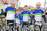 Nortk Kerry Spring Cycling Classic: Taking part in the North Kerry Spring  Cycling Classic organised by the Finuge Freewheelers Cycling club & Ballybunion Sea & Cliff Resue held in Ballybunion on Sunday last were members of the  Kingdom Cycling club. Maurice Lenihan, Adam Lenihan, Kieran Coggins & Dick McElligott.