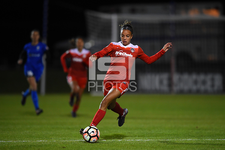 Boyds, MD - Saturday September 30, 2017: Mallory Pugh during a regular season National Women's Soccer League (NWSL) match between the Washington Spirit and the Seattle Reign FC at Maureen Hendricks Field, Maryland SoccerPlex.