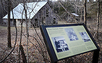 NWA Democrat-Gazette/DAVID GOTTSCHALK  The Susie Nichol's Place is one of the homesteads preserved on the Current River. Nichols lived in her Parker Hollow home from 1894 until her death in 1959.