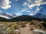 The sun sets above the Fay Luther Trailhead in Gardnerville, Nev., on Sunday, Sept. 21, 2014. <br /> Photo by Cathleen Allison