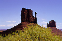 The Mittens mesas in Monument Valley National Park and navaho Indian reservation,  Utah, USA