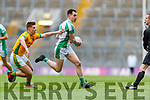 Jack Barry, Na Gaeil in action against Eoin Porter, Rathgarogue-Cushingstown during the AIB GAA Football All-Ireland Junior Club Championship Final match between Na Gaeil and Rathgarogue-Cushinstown at Croke Park on Saturday.