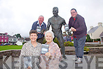 At the launch of the Casey Brothers DVD in Sneem on Friday last were front l-r; Patricia Curtin, Myrtle Casey, back l-r; Christy & Anthony Reardon with the statue of Steve 'Crusher' Casey - World Heavyweight Champion Wrestler 1938 - 1947.