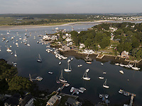 harbor aerial at Annisquam, Cape Ann, Mass
