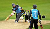 Cricket - Hampshire Royals V Scottish Saltires at The Rosebowl - Southampton - stout batting from Saltires Capt Gordon Drummond failed to stem the fall of wickets - here batting with Preston Mommsen - Picture by Donald MacLeod -29.08.11 - 07702 319 738 - www.donald-macleod.com