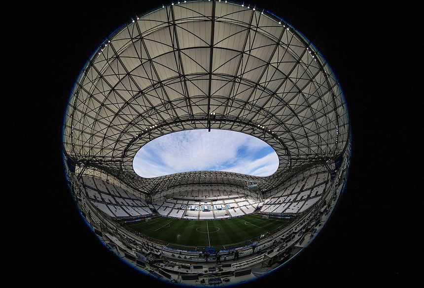 A general view of the Stade Velodrome, Marseille<br /> <br /> Photographer Craig Mercer/CameraSport<br /> <br /> International Football - 2016 UEFA European Championship - Group B - England v Russia - Saturday 11th June 2016 - Stade Velodrome, Marseille - France <br /> <br /> World Copyright &copy; 2016 CameraSport. All rights reserved. 43 Linden Ave. Countesthorpe. Leicester. England. LE8 5PG - Tel: +44 (0) 116 277 4147 - admin@camerasport.com - www.camerasport.com