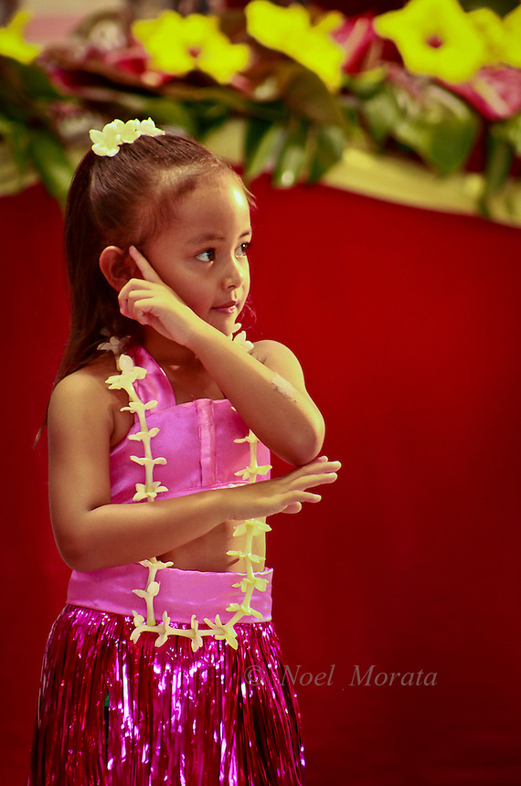 Keiki hula performance at the Big Island Music Festival 2012,