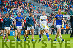 Kerry and Mayo teams parade before the All Ireland Semi Final in Croke Park on Sunday.