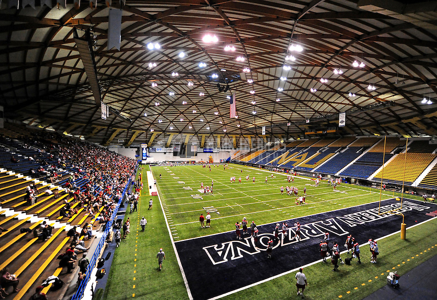 Aug. 1, 2010; Flagstaff, AZ, USA; Overall view during Arizona Cardinals practice during training camp at Walkup Skydome on the campus of Northern Arizona University. Mandatory Credit: Mark J. Rebilas-