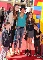 WWW.BLUESTAR-IMAGES.COM  TV personality Brooke Burke arrives at the Los Angeles premiere of 'The Lego Movie' held at Regency Village Theatre on February 1, 2014 in Westwood, California.<br /> Photo: BlueStar Images/OIC jbm1005  +44 (0)208 445 8588
