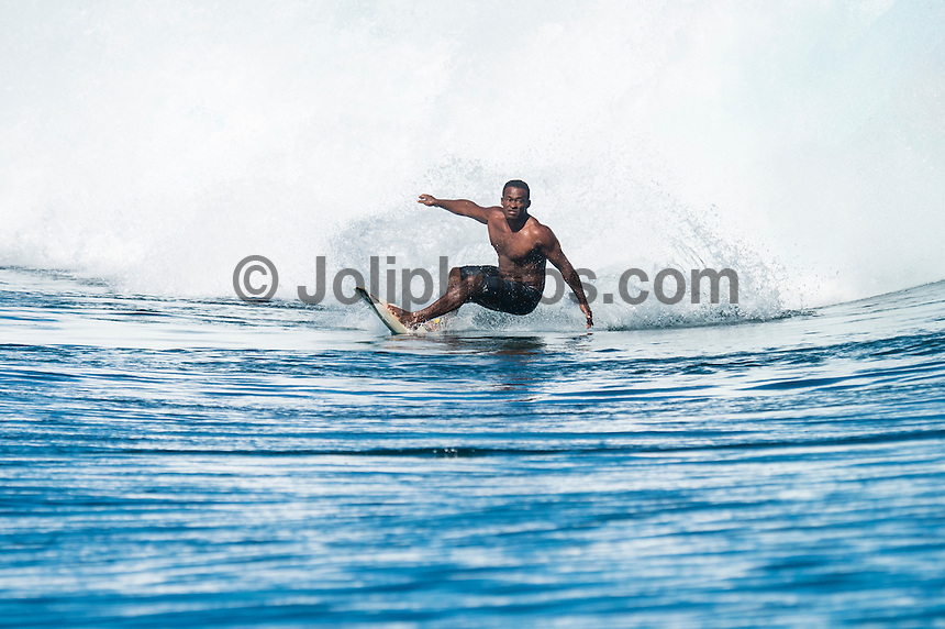 Namotu Island Resort, Namotu, Fiji. (Wednesday May 7, 2014) Isei Tokovou (FJI). –  There were clean waves in the 3'-5' range today.There were sessions at Wilkes Pass, Namotu Lefts, Swimming Pools and Cloudbreak. The condtions at Cloudbreak were virtually flawless during the morning with light winds and  a building swell. The wind stayed light Trades until around 2 pm. Photo: joliphotos.com