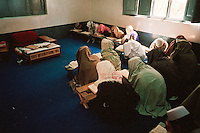 Haqqania Coranic School, Akkora Khattak, Pakistan.More than 80% of the present Taliban leaders went through this Madrassah were more than 2500 students remain in a closed world between the age of 8 and 25 to study Islam.