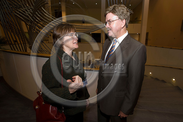 BRUSSELS - BELGIUM - 29 NOVEMBER 2007 -- MEP Anne E. Jensen and MEP Thomas MANN.  Photo: Erik Luntang/EUP-IMAGES