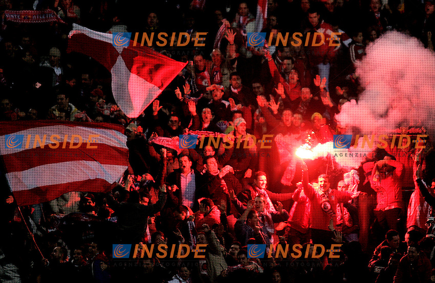 Atletico de Madrid's Supporters during  the Spanish League match between Atletico de Madrid and Real Madrid at Vicente Calderon Stadium in Madrid, Saturday February 24 2007. (INSIDE/ALTERPHOTOS/B.echavarri).
