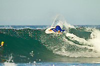 Jeffreys Bay, Eastern Cape, South Africa. Thursday July 21 2011. Adrian Buchan (AUS).  Freesurfing at Boneyards in 2'-4' clean south easterly swell.  Photo: joliphotos.com