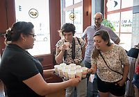"Food conference attendees take the Mexican food tour of Boyle Heights, stopping at La Monarca Bakery. Occidental College hosts the Oxy Food Conference, an annual meeting and conference for the Agriculture, Food and Human Values Society (AFHVS)/Association for the Study of Food and Society (ASFS). The event ran from June 14-17, 2017 and was organized by Oxy associate professor of sociology John Lang. This was the first time Oxy hosted this conference.<br /> More than 500 food scholars converged for one of the discipline's largest international conferences and the chance to discuss everything from sustainable agricultural and fisheries practices to the cultural significance of Basque-American ""picon punch.""<br /> (Photo by Marc Campos, Occidental College Photographer)"