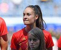 20190601 - LEUVEN , BELGIUM : Belgian Tessa Wullaert pictured during the female soccer game between the Belgian Red Flames and Thailand , a friendly game as a preparation for Thailand for the World Championship in France 2019, Saturday 1 th June 2019 at OHL Stadion Den Dreef in Leuven , Belgium. PHOTO SPORTPIX.BE | DAVID CATRY
