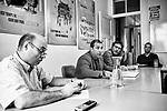 Gen&egrave;ve, le 19.10.2017<br /> R&eacute;union du Cartel intersyndical au sujet de SCORE dans les locaux de la SPG.<br /> Le Courrier / &copy; C&eacute;dric Vincensini