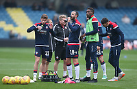 The Bolton players during the warm-up<br /> <br /> Photographer Rob Newell/CameraSport<br /> <br /> The EFL Sky Bet Championship - Millwall v Bolton Wanderers - Saturday 24th November 2018 - The Den - London<br /> <br /> World Copyright © 2018 CameraSport. All rights reserved. 43 Linden Ave. Countesthorpe. Leicester. England. LE8 5PG - Tel: +44 (0) 116 277 4147 - admin@camerasport.com - www.camerasport.com