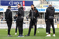 Blackpool's Curtis Tilt and Oliver Turton inspecting the pitch before the match<br /> <br /> Photographer Andrew Kearns/CameraSport<br /> <br /> The EFL Sky Bet League Two - Bristol Rovers v Blackpool - Saturday 2nd March 2019 - Memorial Stadium - Bristol<br /> <br /> World Copyright © 2019 CameraSport. All rights reserved. 43 Linden Ave. Countesthorpe. Leicester. England. LE8 5PG - Tel: +44 (0) 116 277 4147 - admin@camerasport.com - www.camerasport.com