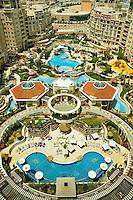 Al  Murooj Rotana Hotel and apartments, pool and recreation area.   Dubai. United Arab Emirates.
