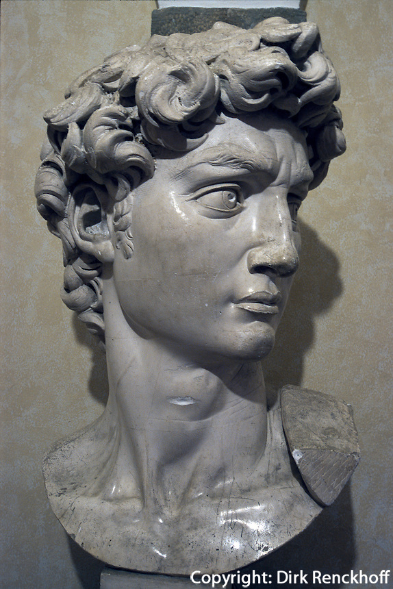 Italien, Toskana, Caprese Michelangelo, Geburtshaus von Michelangelo, David