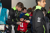 Pictured: Joe Rodon of Swansea City during the Swansea City Christmas part at the Liberty Stadium in Swansea, Wales, UK. Thursday 05 December 2019