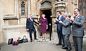 Pic shows: Theresa May wind the second ballot for leadership - leaves ST Stephens Entrance art Parliament<br /> 7.7.16<br /> <br /> Handbags at dawn in all women run off<br /> <br /> Pic by Gavin Rodgers/Pixel 8000 Ltd