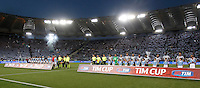 Calcio, finale Tim Cup: Juventus vs Lazio. Roma, stadio Olimpico, 20 maggio 2015.<br /> Lazio and Juventus team line up prior to the start of the Italian Cup final football match between Juventus and Lazio at Rome's Olympic stadium, 20 May 2015.<br /> UPDATE IMAGES PRESS/Isabella Bonotto