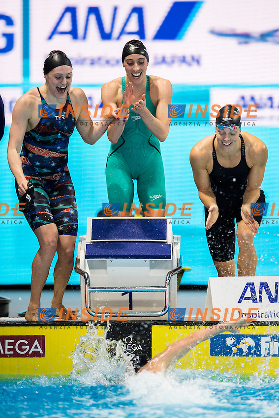 United States USA Gold Medal<br /> Women's 4x100m Freestyle <br /> WEIR Amanda WORRELL Kelsi KENNEDY Madison COMERFORD Mallory Elizabeth  <br /> 13th Fina World Swimming Championships 25m <br /> Windsor  Dec. 6th, 2016 - Day01 Finals<br /> WFCU Centre - Windsor Ontario Canada CAN <br /> 20161206 WFCU Centre - Windsor Ontario Canada CAN <br /> Photo &copy; Giorgio Scala/Deepbluemedia/Insidefoto