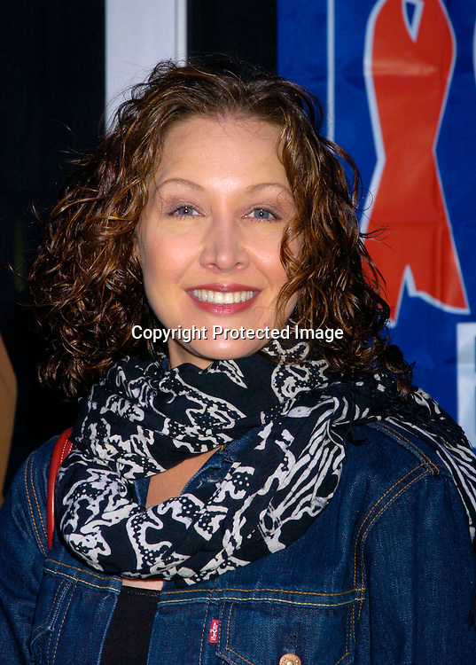 Kaitlin Hopkins ..at the Broadway Cares/ Equity Fights Aids Flea Market and Grand Auction on September 19, 2004 in Shubert Alley...Photo by Robin Platzer, Twin Images