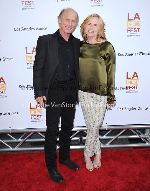 Ed Harris and Amy Madigan attends The LOS ANGELES FILM FESTIVAL Opening Night Gala: SNOWPIERCER held at Regal Cinemas  in Los Angeles, California on June 11,2014                                                                               © 2014 Hollywood Press Agency