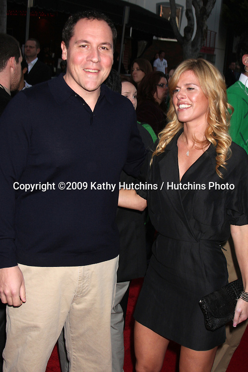 "Jon Favreau  & Wife Joya arriving at the ""I Love You, Man"" Premiere at the Mann Village Theater in Westwood, CA on  March 17, 2009 .©2009 Kathy Hutchins / Hutchins Photo...                ."