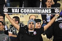 SÃO PAULO,SP,17 JULHO 2013 - FINAL RECOPA SUL-AMERICANA - CORINTHIANS x SÃO PAULO - Torcedores  do Corinthians antes da partida entre Corinthians X São Paulo em jogo válido pela final da Recopa no Estádio Paulo Machado de Carvalho (Pacaembu) na noite desta quara feira (17).FOTO ALE VIANNA - BRAZIL PHOTO PRESS.