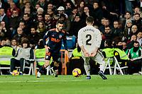 Real Madrid's Dani Carvajal and Valencia CF's Jose Gaya during La Liga match between Real Madrid and Valencia CF at Santiago Bernabeu Stadium in Madrid, Spain. December 01, 2018. (ALTERPHOTOS/A. Perez Meca) /NortePhoto NORTEPHOTOMEXICO