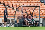 06.01.2019, FNB Stadion/Soccer City, Nasrec, Johannesburg, RSA, FSP, SV Werder Bremen (GER) vs Kaizer Chiefs (ZA)<br /> <br /> im Bild / picture shows <br /> Florian Kohfeldt (Trainer SV Werder Bremen), Jaroslav Drobny (Werder Bremen #33), Philipp Bargfrede (Werder Bremen #44), Jiri Pavlenka (Werder Bremen #01), Fin Bartels (Werder Bremen #22), nicht ber&uuml;cksichtigt, <br /> <br /> Foto &copy; nordphoto / Ewert