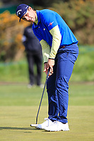 Andrea Pavan (ITA) on the 4th green during Round 2 of the Betfred British Masters 2019 at Hillside Golf Club, Southport, Lancashire, England. 10/05/19<br /> <br /> Picture: Thos Caffrey / Golffile<br /> <br /> All photos usage must carry mandatory copyright credit (&copy; Golffile | Thos Caffrey)