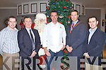 FOOD FAIR: Celebrity Chef Kevin Dundon with Santa at the Garvey's Food Fair at the Earl of Desmond hotel on Friday l-r: Kevin O'Connor (Garvey's), Tim Moynihan (Recovery Haven), Santa Claus, Kevin Dundon, Pat Crean (president Tralee Lyons Club) and Paul O'Connor (Garvey's).